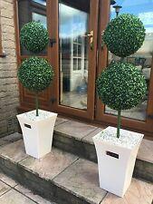2x ARTIFICIALI DOUBLE BALL alberi con panna FIORIERA
