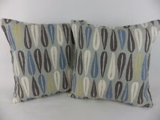 "16 "" Blue Grey Mustard Romo Scatter Pillow Cushion Covers Linen"
