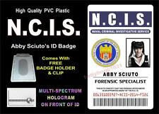 NCIS ID badge / Card Prop (ABBY SCIUTO) Forensic Specialist - HIGH QUALITY PVC