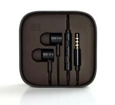 IN EAR NOISE ISOLATING METAL EARPHONES HEADPHONES BRAIDED CABLE + MIC BLACK