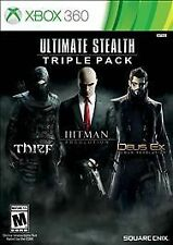 XBOX 360 ULTIMATE STEALTH TRIPLE PACK BRAND NEW VIDEO GAME