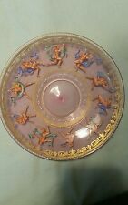 Gay interest decorated, hand blown and painted plate.