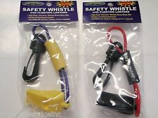 WHISTLE JET SKI WATER CRAFT PAIR 455 W1 W2 PURPLE/YELLOW RED/BLACK LIFE VESTS