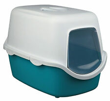 Trixie Vico Litter Tray With Dome 40x40x56cm Turquoise/White