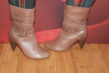 *33* Superb AUTOGRAPH brown  leather  slouch ankle  boots   UK 5.5