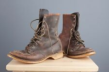Vtg RARE 50s 1950-53 Mens Red Wing Green Tag Irish Setter Boots 6-6.5 (?)  #1576