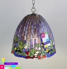 Lotus Flower Tiffany Style Stained Glass Lamp Shade Desk Table or Pendant Lamp
