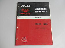LUCAS Parts List 1968  HILLMAN HUMBER SINGER SUNBEAM COMMER KARRIER Rootes
