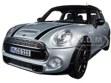 2015 MINI COOPER S SILVER METALLIC BLACK 1/18 DIECAST MODEL CAR BY NOREV 183110