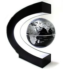 C Shape Magnetic Levitation Floating Globe Science Desktop Office Gift Accessory