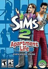 The Sims 2: Apartment Life Expansion Pack,  Case, Game disc, manual, code