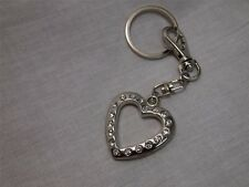 HEART KEYCHAIN Crystal Rhinestone Diamond Key Ring Purse Charm Handbag Bling