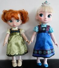 Disney Animator's Collection Toddler Princess 2 Dolls: Frozen ELSA & ANNA