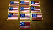 MILITARY SHOULDER UNITED STATES ARMY FLAG PATCH LOT 10 PATCHES IRON ON PATCHES