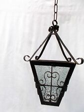 Vintage French Curly Metal Lantern Light, Porch Light, Hall, Conservatory Light