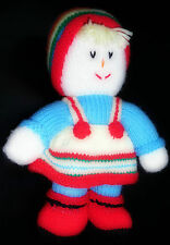 Handmade Crochet knit Plush Doll (13.5 INCHES)