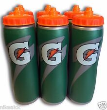 6 PACK of 32oz Insulated Gatorade Water Bottles with Gator Skin Grip- BRAND NEW!