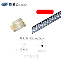 100PCS SMD SMT 0402 (1005) LED Red Light Emitting Diodes Super Bright