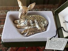 Christofle Lumiere Silverplated Baby Fawn New in box