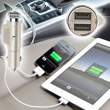Car Fresh Air Ionic Purifier Oxygen Bar Ozone Ionizer Cleaner Dual Car Charger