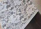 """Lace Fabric Ivory White Lotus Soft Gauze Wedding Fabric 59"""" width 1 yard"""