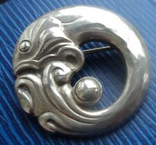Vintage Georg Jensen Danish Silver Modernist Fish Brooch no. 10  h/m 1973 London