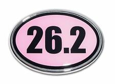 26.2 Marathon Pink and Chrome Plated Car Auto Truck Emblem Made in the USA! NEW