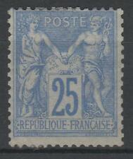 """FRANCE STAMP TIMBRE N° 78 """" TYPE SAGE 25c OUTREMER 1876 """" NEUF x TB   K941"""