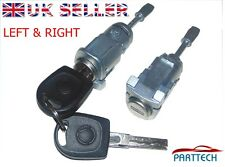 VW MK4 GOLF BORA POLO 9N COMPLETE DOOR LOCK SET + 2 KEYS FRONT RIGHT and LEFT