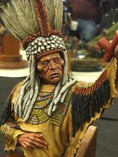 SK Miniatures Blackfoot Indian Warrior 1/9th UNPAINTED resin bust CARL REID