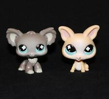 Lot of 2 Littlest Pet Shop LPS CHIHUAHUA DOGS #836 #837 Dog gray tan blue eyes