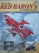 BUILD THE RED BARON'S FIGHTER PLANE FOKKER DR1  HACHETTE  ISSUE 66  NEW SEALED