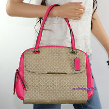NWT Coach Madison OP Art Needlepoint Georgie Satchel Shoulder Bag 30094 Pink NEW