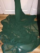 "1 MTR QUALITY DARK GREEN CHIFFON FABRIC...45"" WIDE £2.49 SPECIAL OFFER"