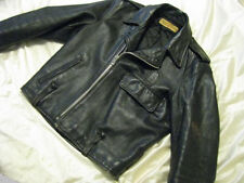 Harley Davidson Motorcycle Leather Jacket H-D Vtg 60s Police Cycle Champ Men 40