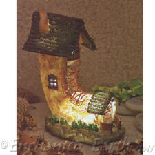NEW SOLAR LED FAIRY HOUSE/BOOT COTTAGE /LED LIGHT /FAIRY GARDEN HOUSE -23cm Tall
