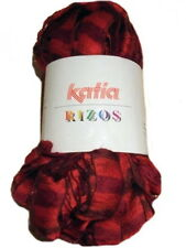 Katia Rizos Scarf Yarn 93 Red Plus Free Pattern 100g