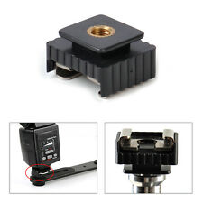 """1/4"""" Thread to Metal Flash Hot Shoe Mount Adapter For Studio Light Stand/Tripod"""