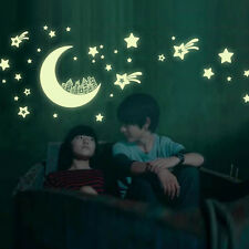 New Fashion DIY Moon Star House Luminous Stickers Home Decor Wall Sticker Decals