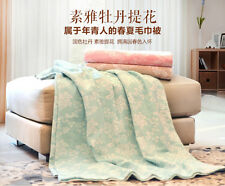 Thin blanket summer air conditioning towel sheet pure cotton queen king size