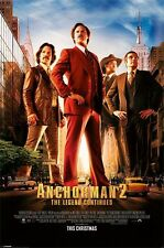 COMEDY MOVIE POSTER Anchorman 2 One Sheet Movie Poster Will Farrell