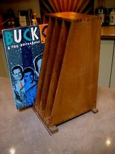 "VINTAGE 1940's VINYL/FILE STORAGE 12"" LP's RECORDS WOODEN DOVETAILED"