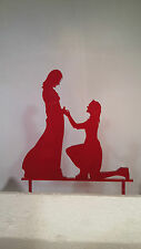 Acrylic Laser Cut Cake Topper Decoration, woman proposing to woman, LGBT