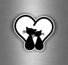 Sticker adesivi adesivo auto moto murali parete macbook gatto gatti nero r3