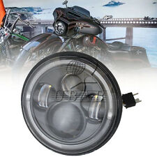 "7"" Black Motorcycle Projector Daymaker Headlight Hi/Lo LED Bulb Light For Harley"