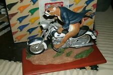 Penn ST. University Nittany Lions motorcycle mascot figurine WE ARE PENN STATE!!