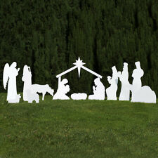 Outdoor Nativity Store Silhouette Outdoor Nativity Set – Full Scene