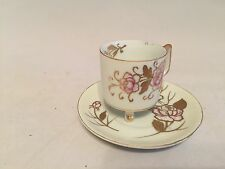 Vintage Arnart Footed Demitasse Cup and Saucer marked