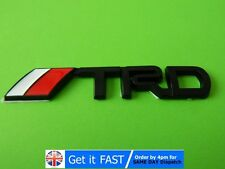 TRD Toyota Badge Emblem Sticker Black Metal Logo 3D Yaris Corolla S121