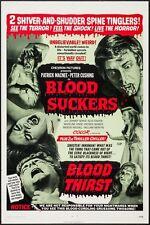 BLOOD SUCKERS/BLOOD THIRST orig 1971 movie poster PETER CUSHING/PATRICK MACNEE